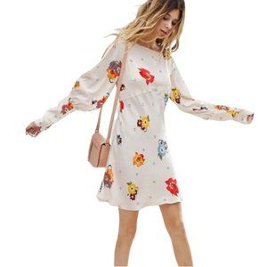 Free People Womens Ivory Sunshadows Dress